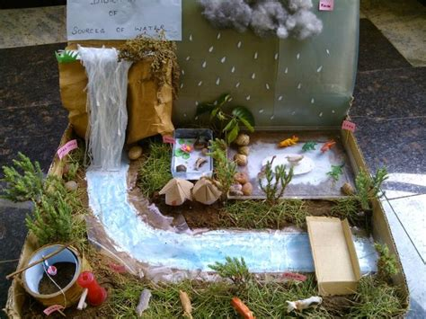 mom   teacher  diorama  sources  water