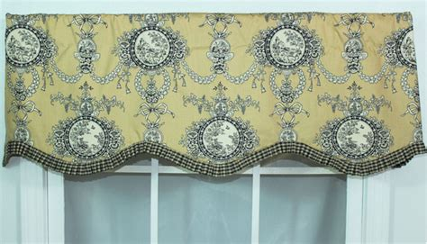 toile kitchen curtains toile kitchen curtains cottage diy project powder room curtain park tie up valance and tier