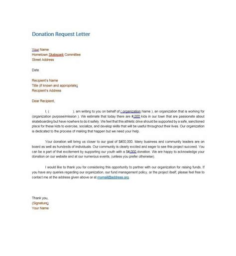 request for charity sponsorship sle letter 43 free donation request letters forms template lab