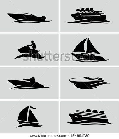 boat names transfers boats and ships icons iconos en blanco y negro de barcos
