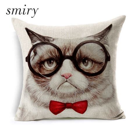 Pelindung Cover Koper Motif Animals Size 27 30 Size L Murah cat pattern decorative pillow covers cotton animal cushion cover chair seat waist