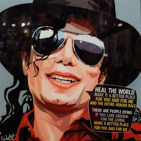 make a better place michael jackson michael jackson poster quot heal the world make it