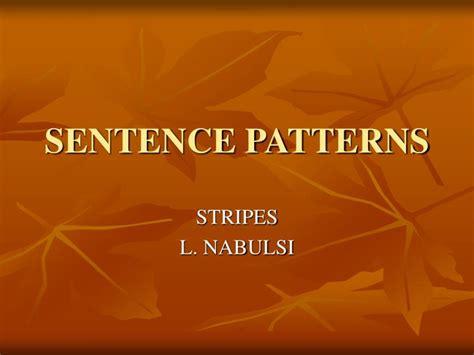 sentence pattern exercises ppt ppt sentence patterns powerpoint presentation id 5439787
