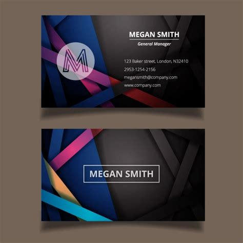 abstract business cards templates free modern abstract business card template vector free
