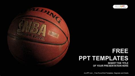 powerpoint presentation themes basketball a basketball with a dark background powerpoint templates