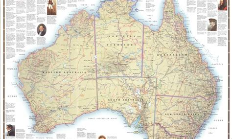 maps of australia for sale maps australian geographic