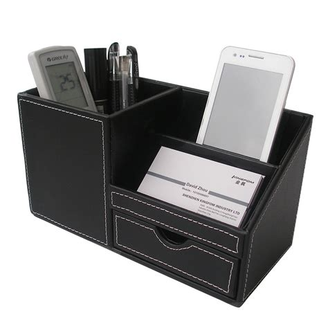 Desk Box Organizer New Modern Office Desk Study Pen Pencil Storage Holder Stationery Organizer Box Ebay