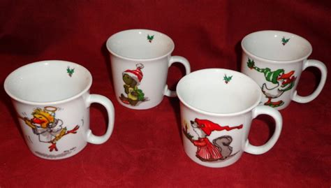 1976 suzy s zoo enesco import christmas cups sold on ruby lane