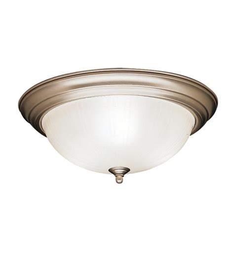 Kichler 8655ni 3 Light Incandescent Flush Mount Ceiling Shaped Ceiling Light