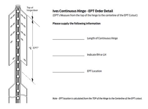 Ept 10 Template ives 700 us32d 120 ept 120 quot mortise pin and barrel