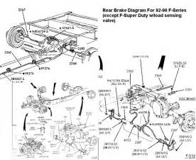 Brake Line Diagram For 1998 Ford F150 93 F350 Rear Brake Line Diagram Ford Truck Enthusiasts
