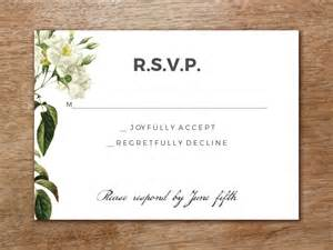 rsvp wedding templates wedding rsvp template botanical