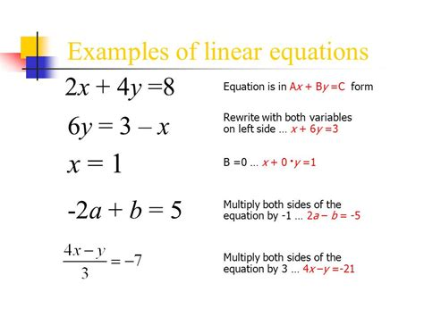 exle of linear function algebra solver oloom