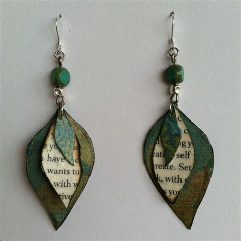 Handmade Paper Earrings Jewelry - made paper bead earrings paper