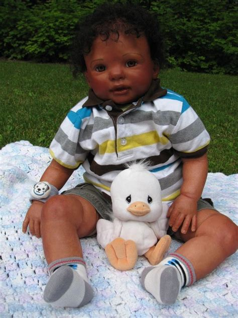 biracial toddler boy reborn realistic lifelike ethnic biracial aa black curly