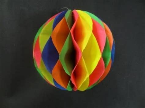 Make Paper Balls - paper crafts how to make a paper honeycomb viyoutube