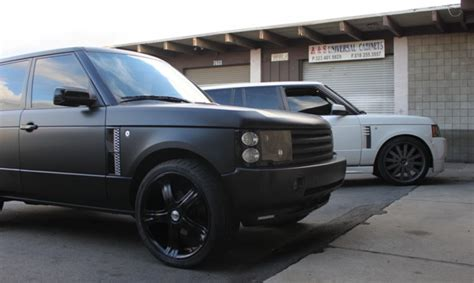wrapped range rover range rover hse wrapped in matte black black