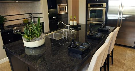 black granite countertops are the little black dress of