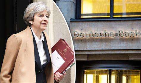 brexit news deutsche bank says theresa may s negotiation