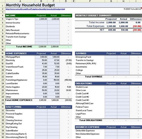 household budget template free download create edit fill and