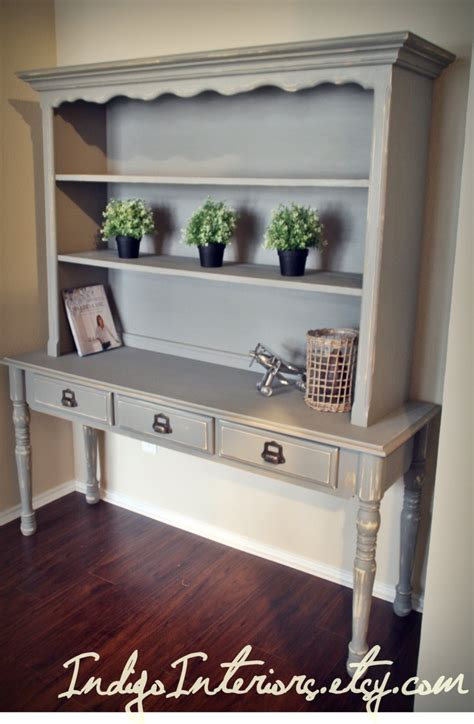 Shabby Chic Gray Bookcase Sofa Table Bookshelf Bookcase Sofa Table