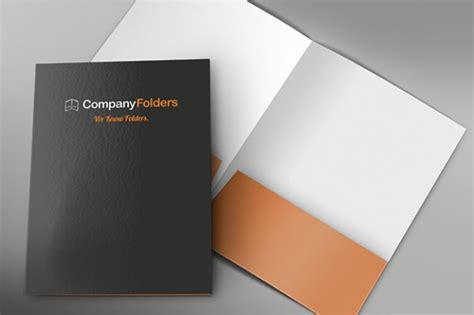 front inside corporate folder mockup template free psd