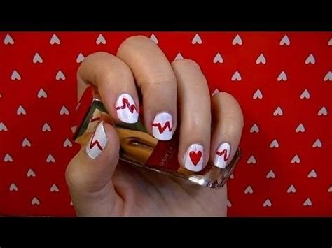 imagenes de uñas decoradas para san valentin decoraci 243 n de u 241 as para san valentin nail art youtube