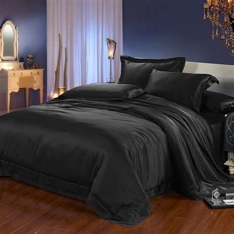 silk bedroom 22 momme seamless silk bedding set