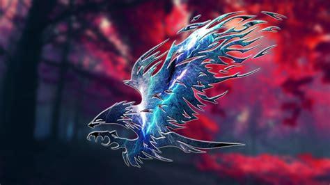 wallpaper eagle lightning effect artwork wallpapermaiden