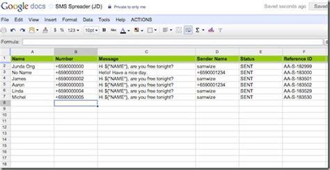 How To Use A Spreadsheet by Sms Spreader Run Sms Caigns Using Spreadsheet
