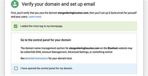 setup  professional email address  gmail