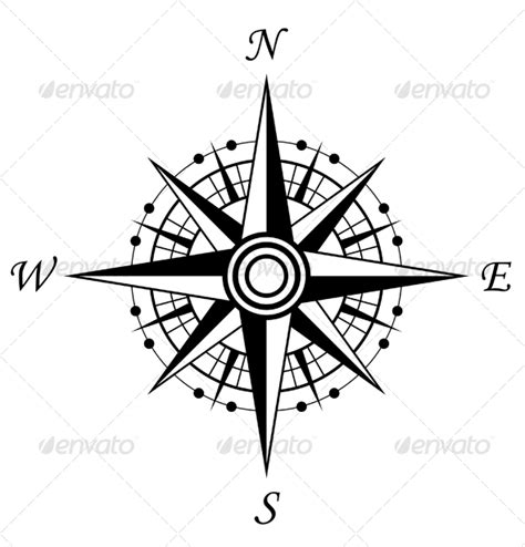 Elements Home Design Portfolio compass symbol by seamartini graphicriver