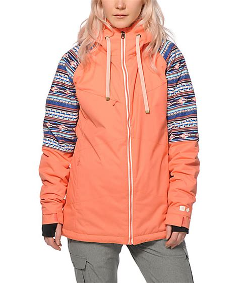 Pwdr Room Jackets by Pwdr Room District Coral Tribal 10k Snowboard Jacket At