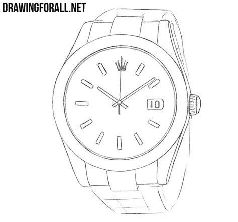 how to draw a how to draw a rolex drawingforall net