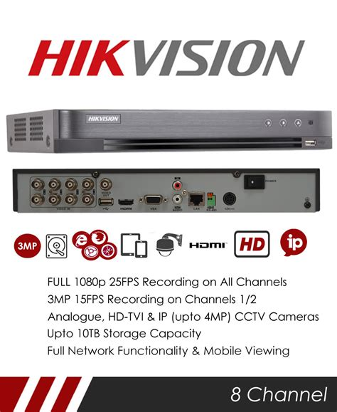 Jual Dvr 8 Channel Hikvision by Mie Cctv Hikvision Ds 7208hqhi K2 P 8 Channel Tvi Poc Dvr