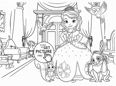 free printable coloring pages sofia the princess sofia the coloring page for girlf disney