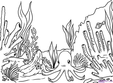 Reef Coloring Pages coral reef coloring page az coloring pages