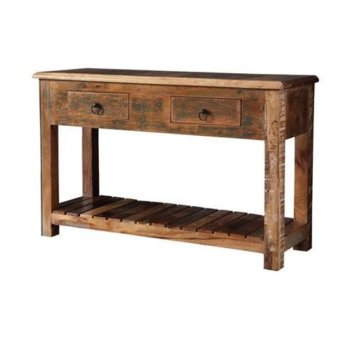 sofa table drawers coaster 2 drawer console table in reclaimed wood 950364