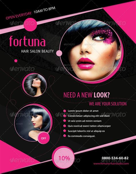 free hair salon flyer templates 7 best images of cosmetology salon flyers salon
