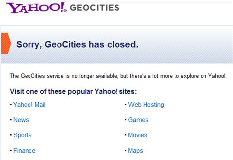 how geocities benefits yahoo seo