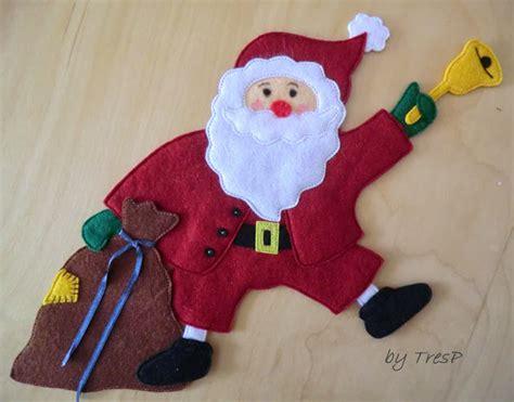 imagenes de santa claus para hacer en fieltro tresp craft blog dos santa claus en fieltro