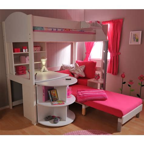 Bunk Bed With Futon And Desk by Bunk Beds With Desk And Couchfuton Bunk Bed With Desk Pink