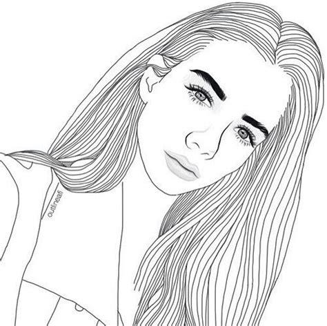 Outline Of A Portrait by Rysunek Dziewczyna Dziewczyna Obraz 5121485 Od Nerita Na Favim Pl