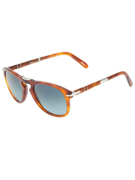 Diesel Lock Shades Limited Edition Couture In The City Fashion by Persol Folding Frame Steve Mcqueen Sunglasses In Brown