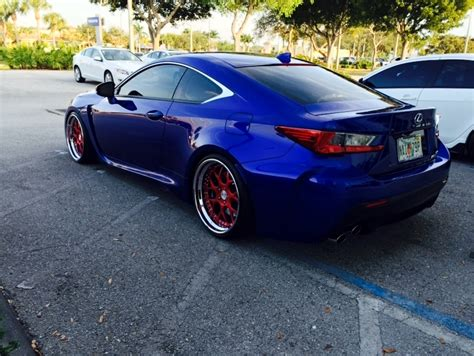 lexus rcf blue forged wheels vossen velgen vmr hre forgiato who