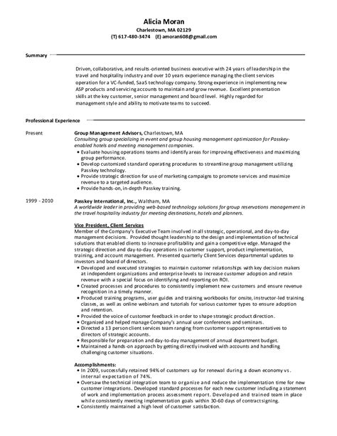 resume sles for hospitality industry 6 best images of microsoft works resume builder