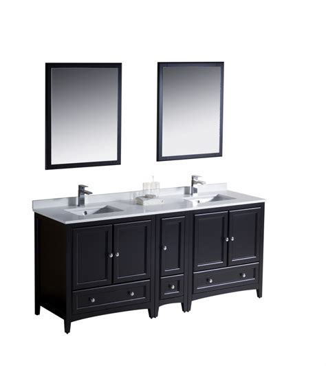 72 inch double sink bathroom vanity in espresso