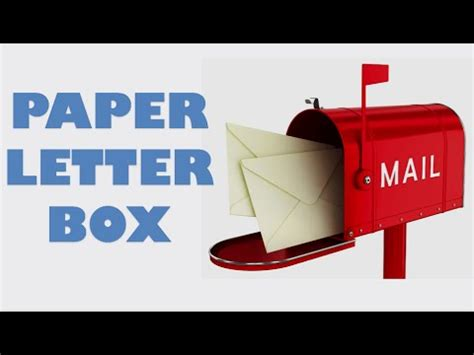 How To Make Letter Box With Paper - how to make your own origami paper letter box envelopes