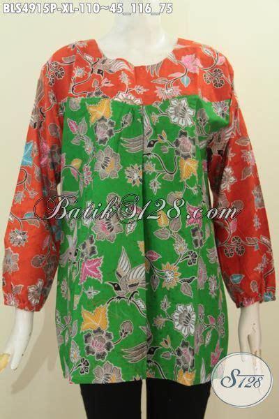 Baju Wanita Ukuran Xl busana batik wanita dewasa ukuran xl baju batik lengan