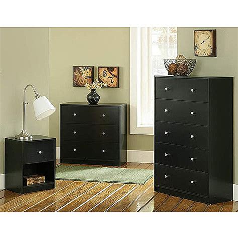 Walmart Bedroom Furniture by Studio Collection 3 Furniture Set Black Walmart